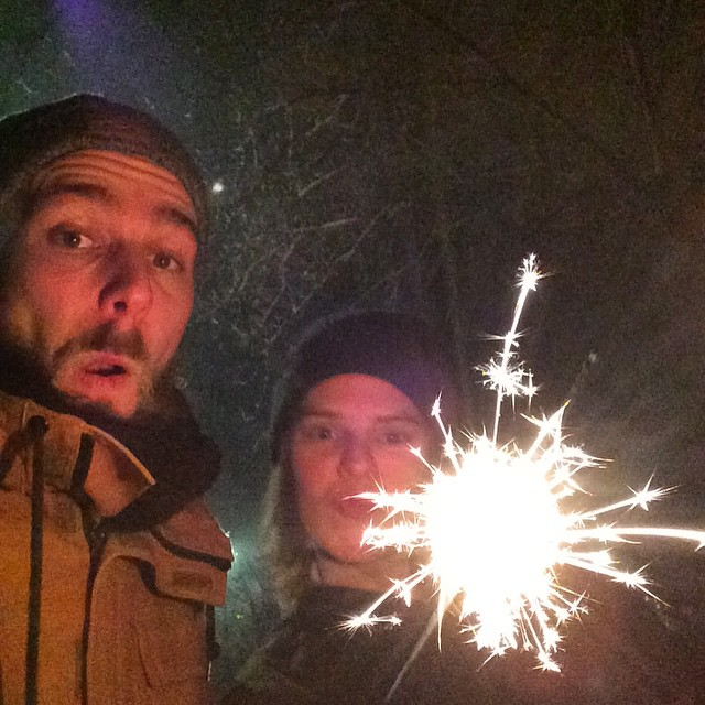 Roel and Noortje celebrating New Years Eve in Berlin