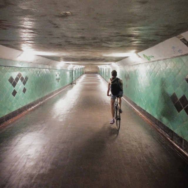 Roel van der Ven on a summer ride in a tunnel