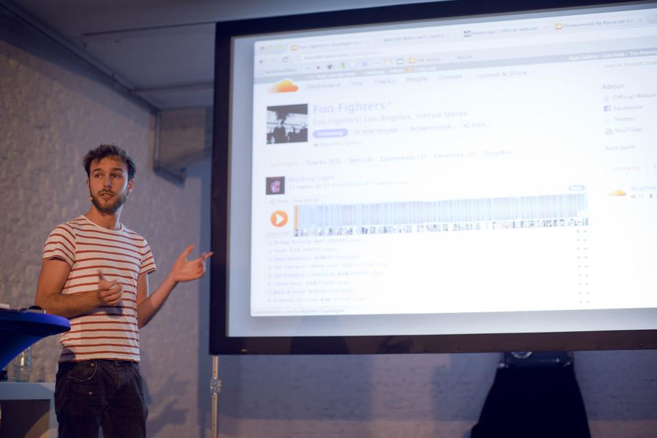 Roel van der Ven presenting SoundCloud