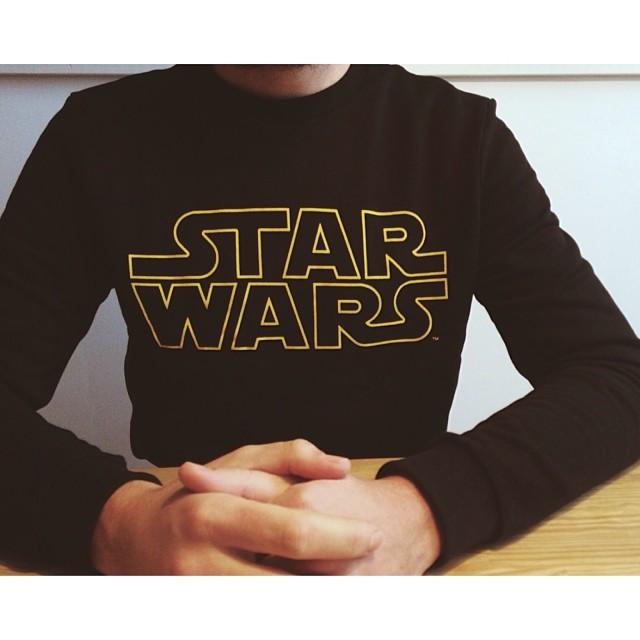 Roel van der Ven with a black Star Wars sweater